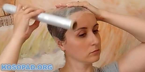 фолио за маска за коса против косопад с чесън